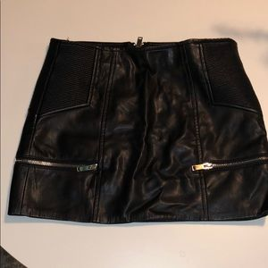 Cute leather skirt with silver zippers!